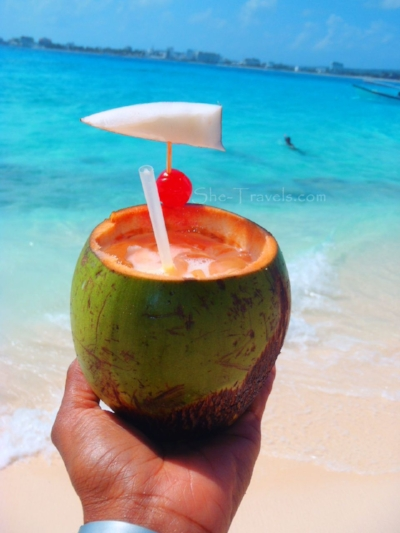Coco Locos at Johnny Cay - ©   She-Travels.com