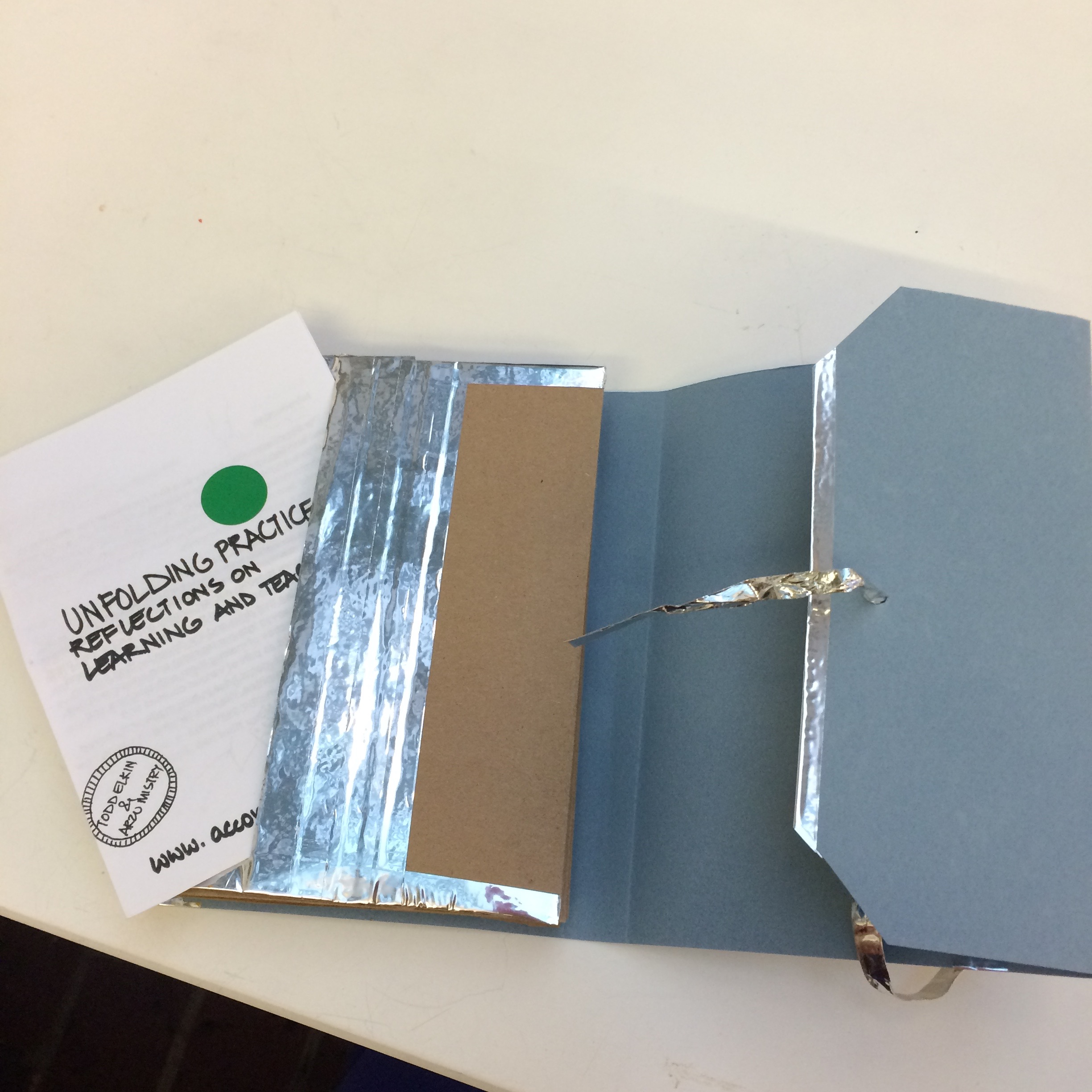 The pocket of my accordion book