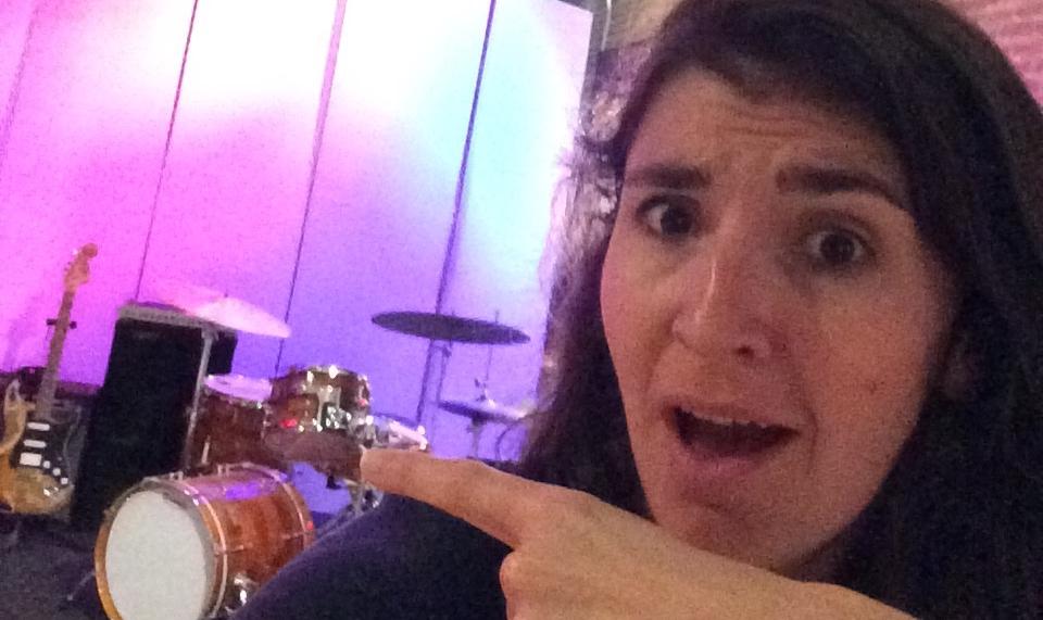 This studio has drums.