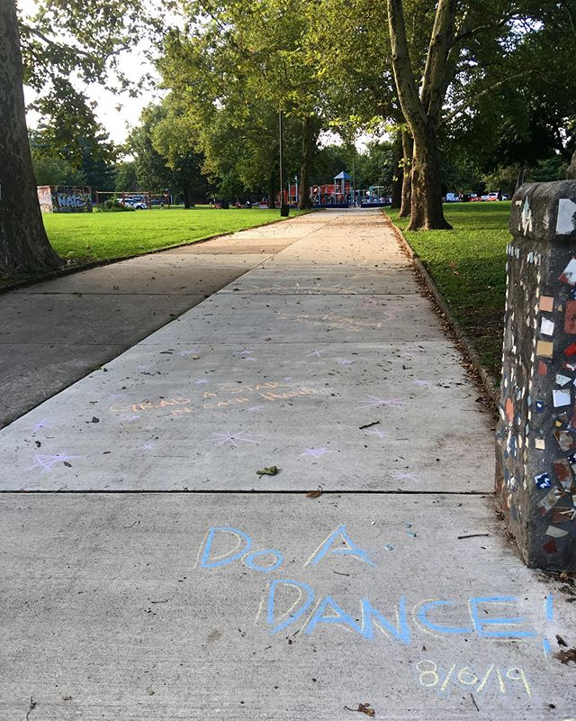 Grab a star in each hand / and a nebula in your teeth / stand at the edge of the sun / and run 🎇🌌 Norris Square Park, Philadelphia 8/6/19 #norrissquarepark #kensingtonphilly #doadance