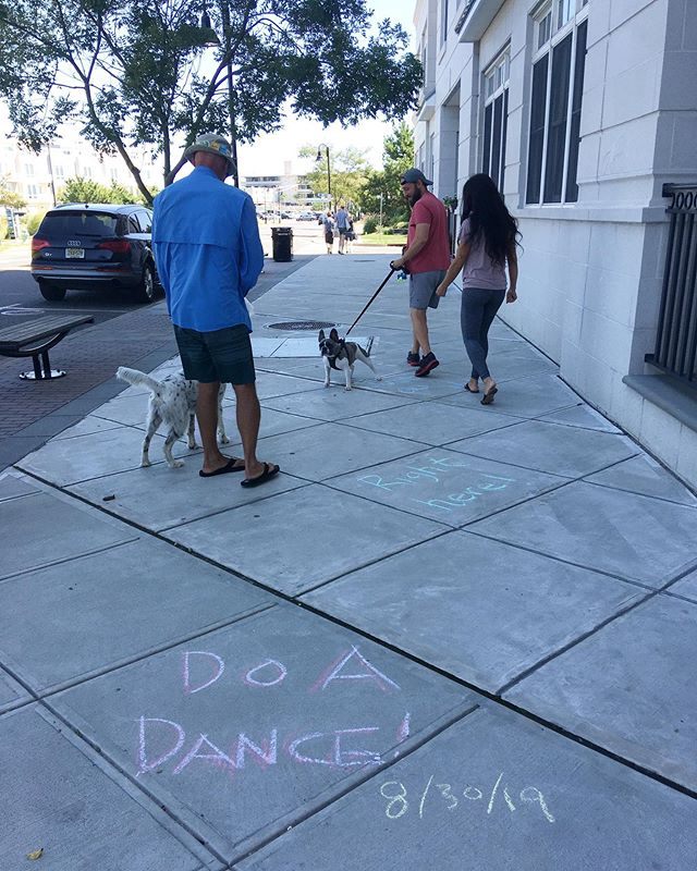 Asbury Park 🌊⛱ Do a dance! Right now! Yes, you! Just do it! #lazy but #insistent #installation #publicart #yaydance