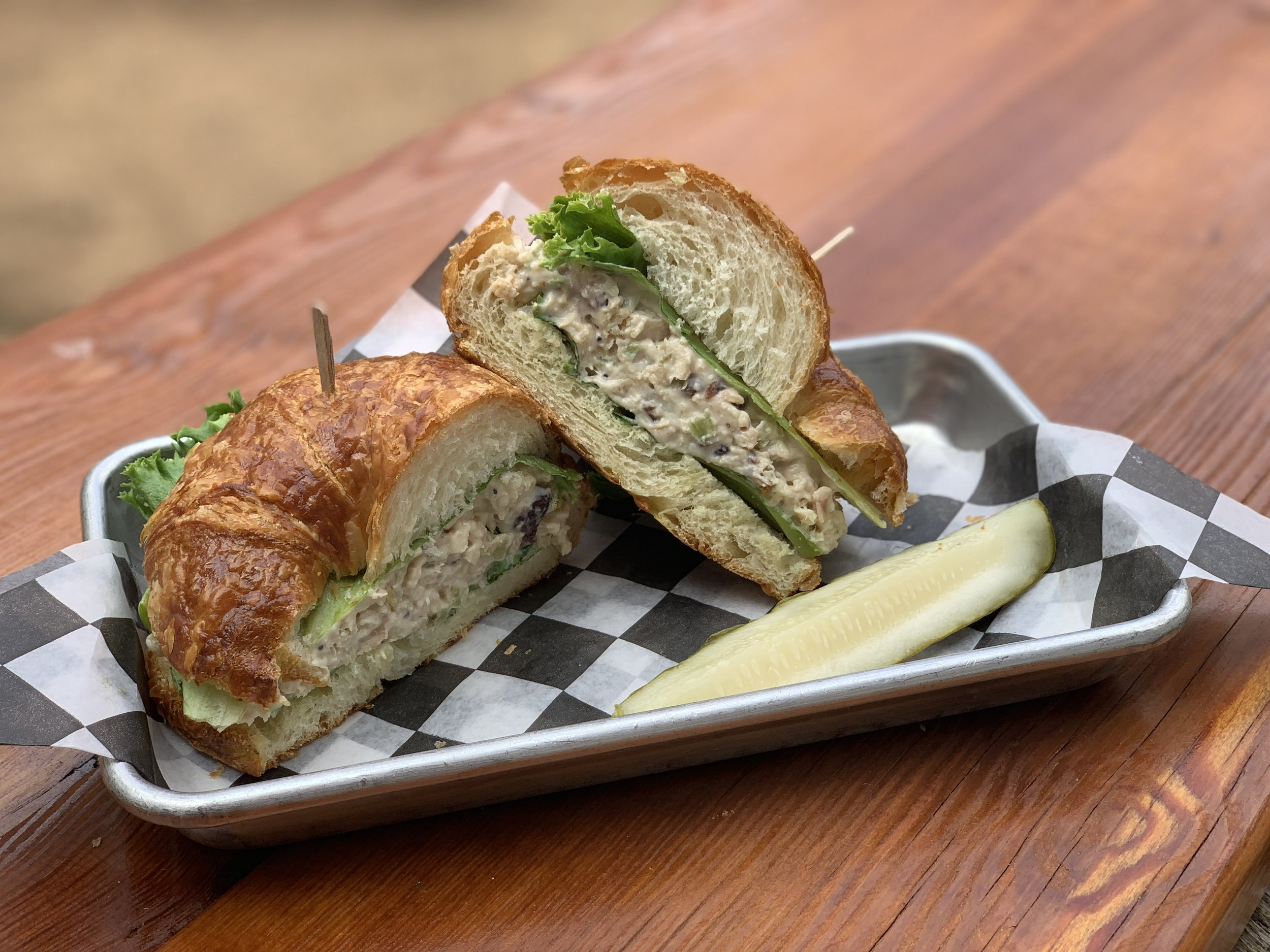 The Hamilton Pool - Chicken salad on a fresh-baked butter croissant