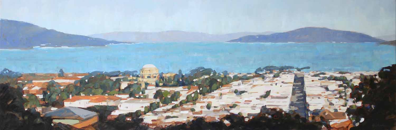 San Francisco Bay and Palace of Fine Arts