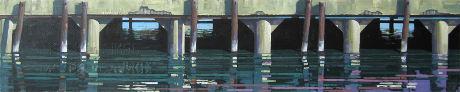 Pier Reflections with Lilac