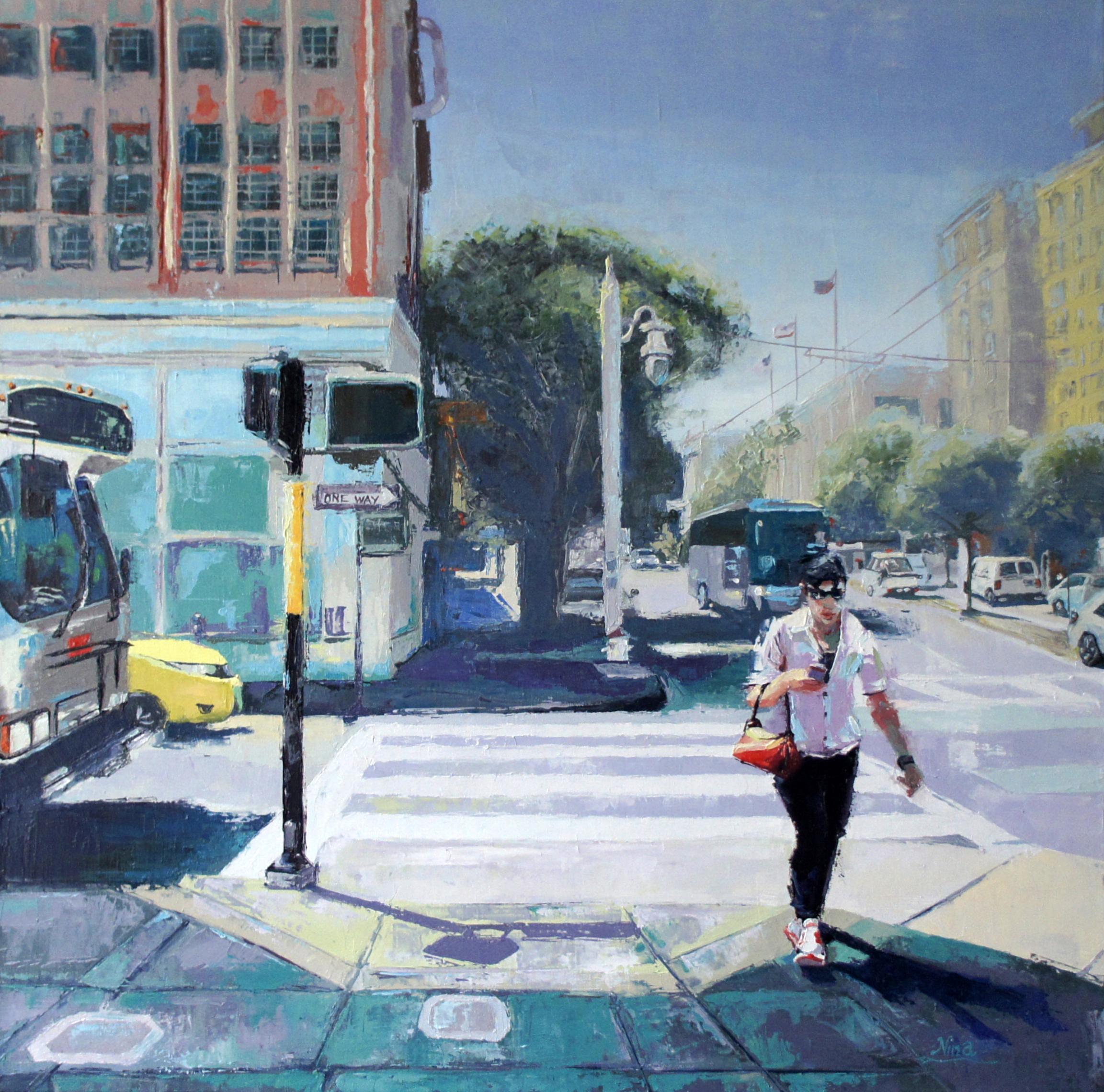Lady on the Sidewalk