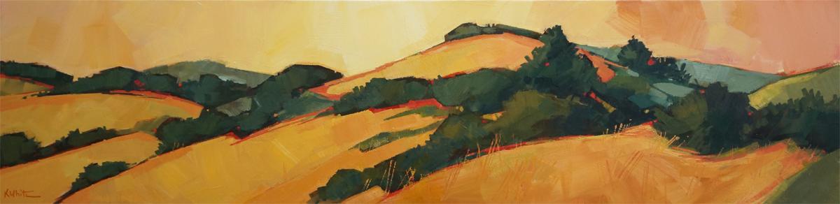 Skyline Hills in Golden Light  by Karen White