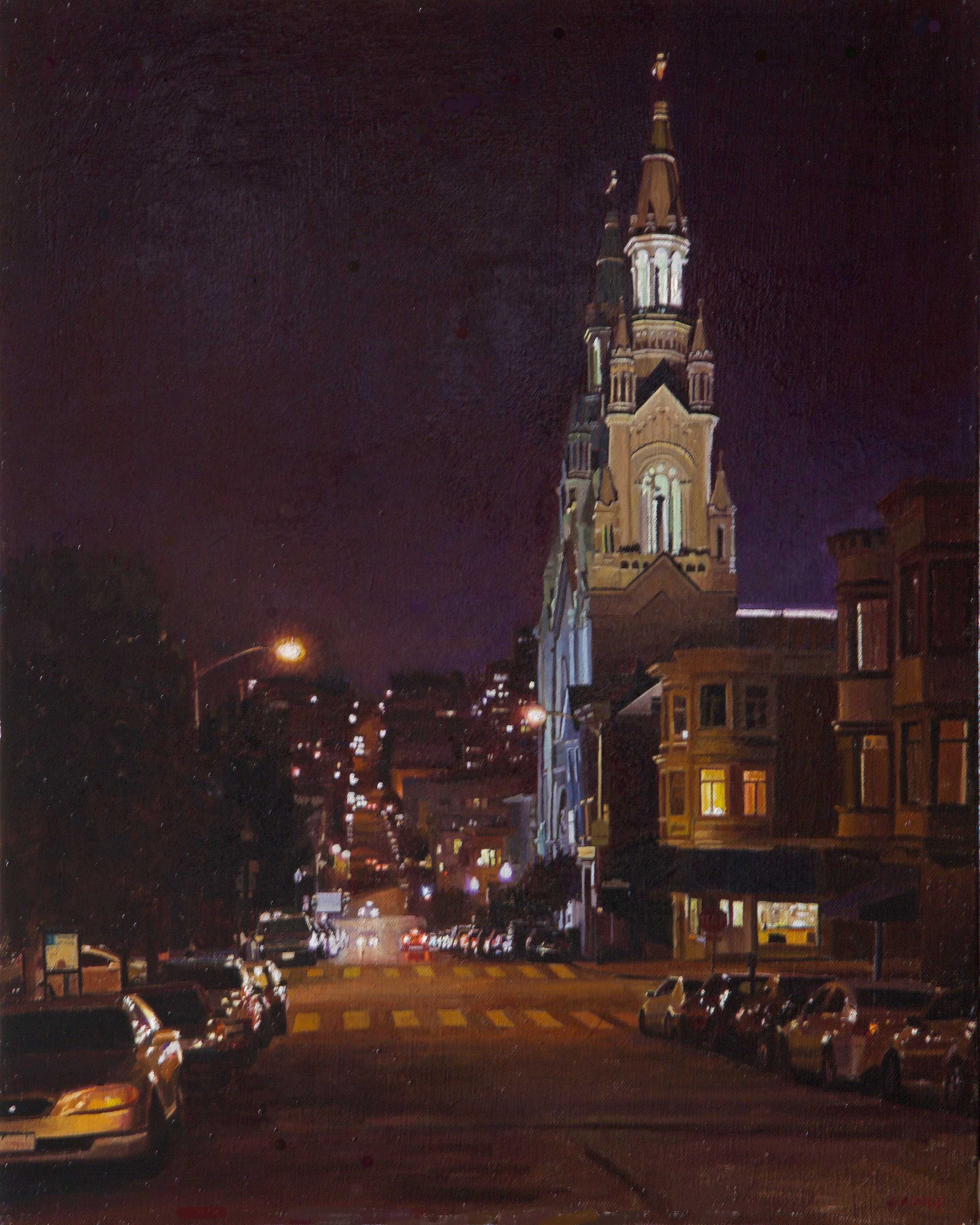 St. Peters and Paul's Church at Night