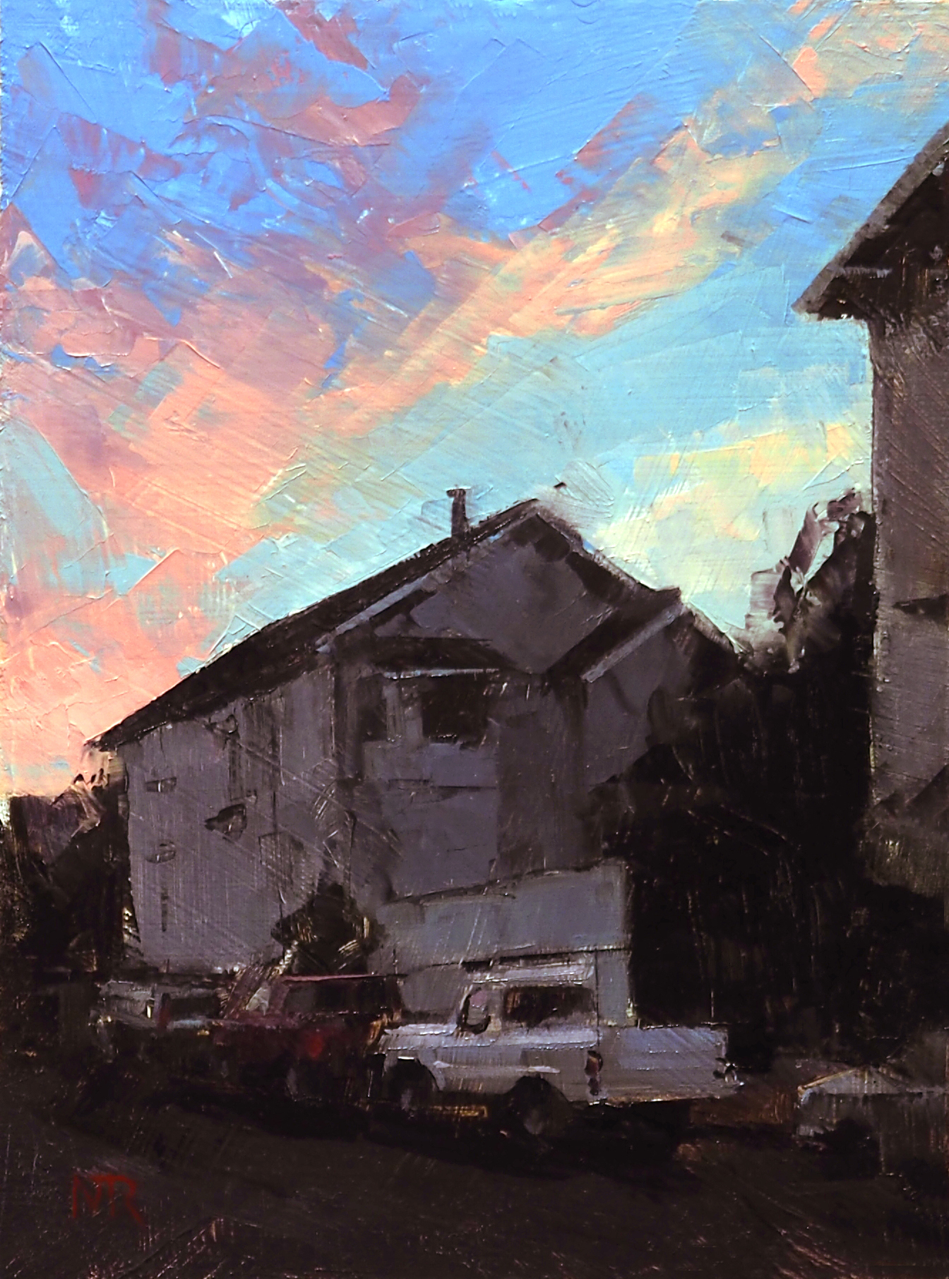 Study of Neighborhood at Dusk