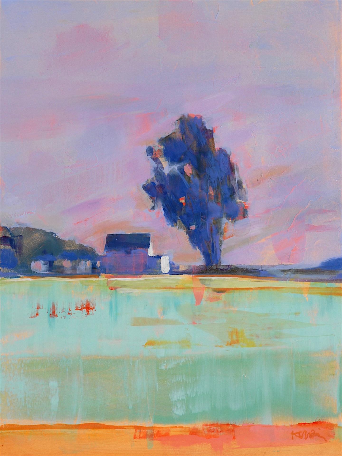 Farm with Lavender Sky
