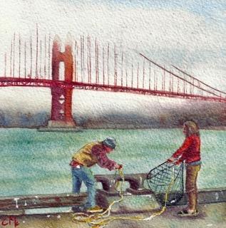 Crabbing at Crissy Field