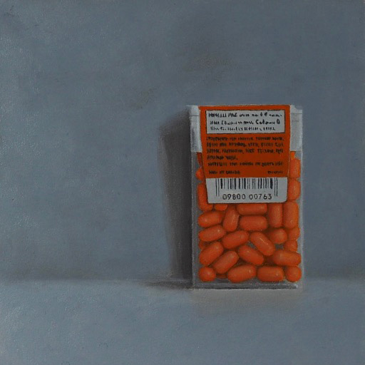 Still Life with Orange Tic Tacs