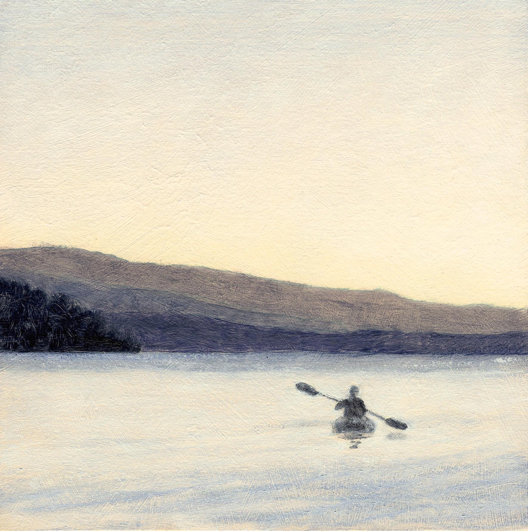Tahoe Evening Kayaker