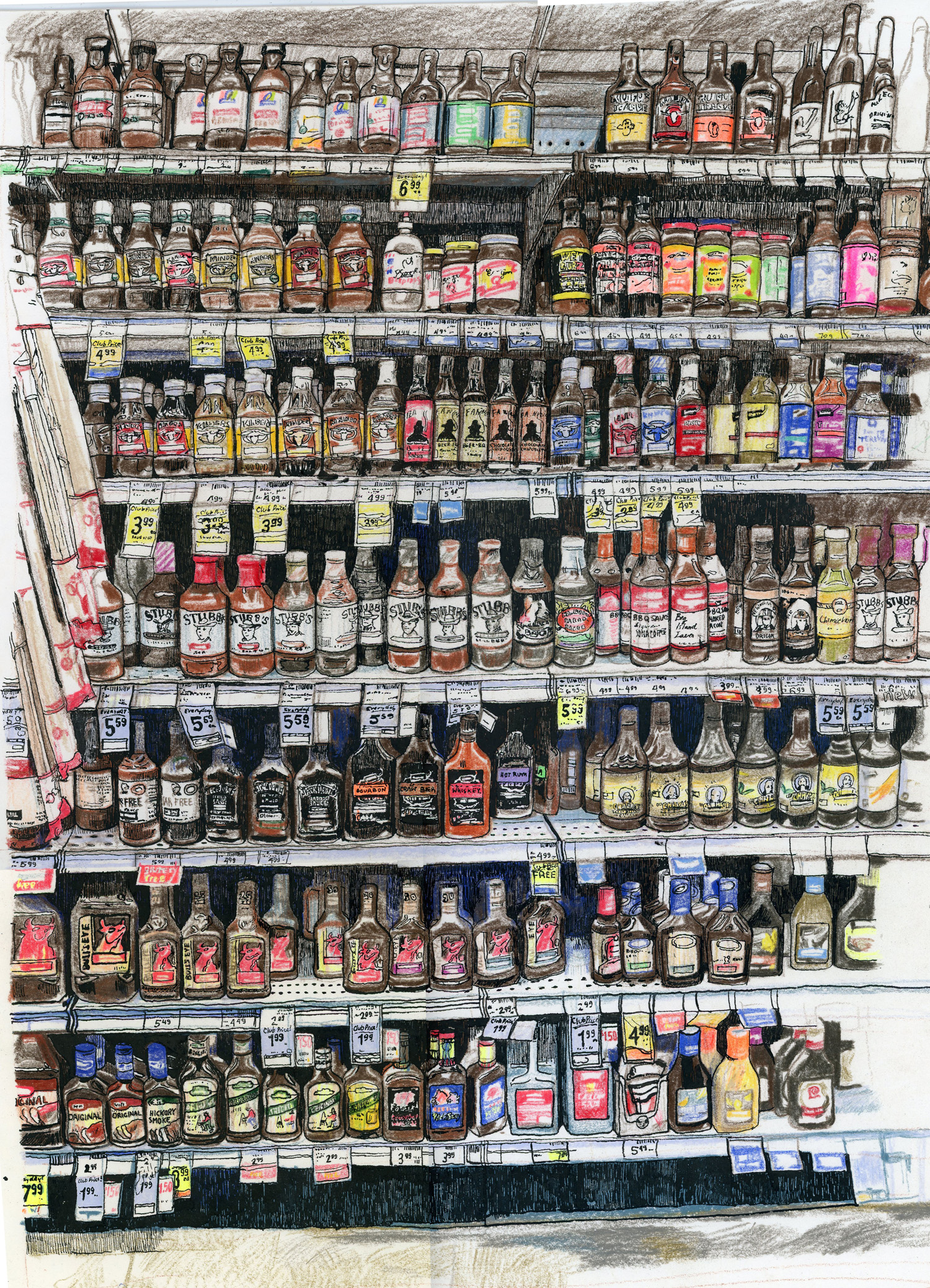 All the BBQ Sauces at Safeway