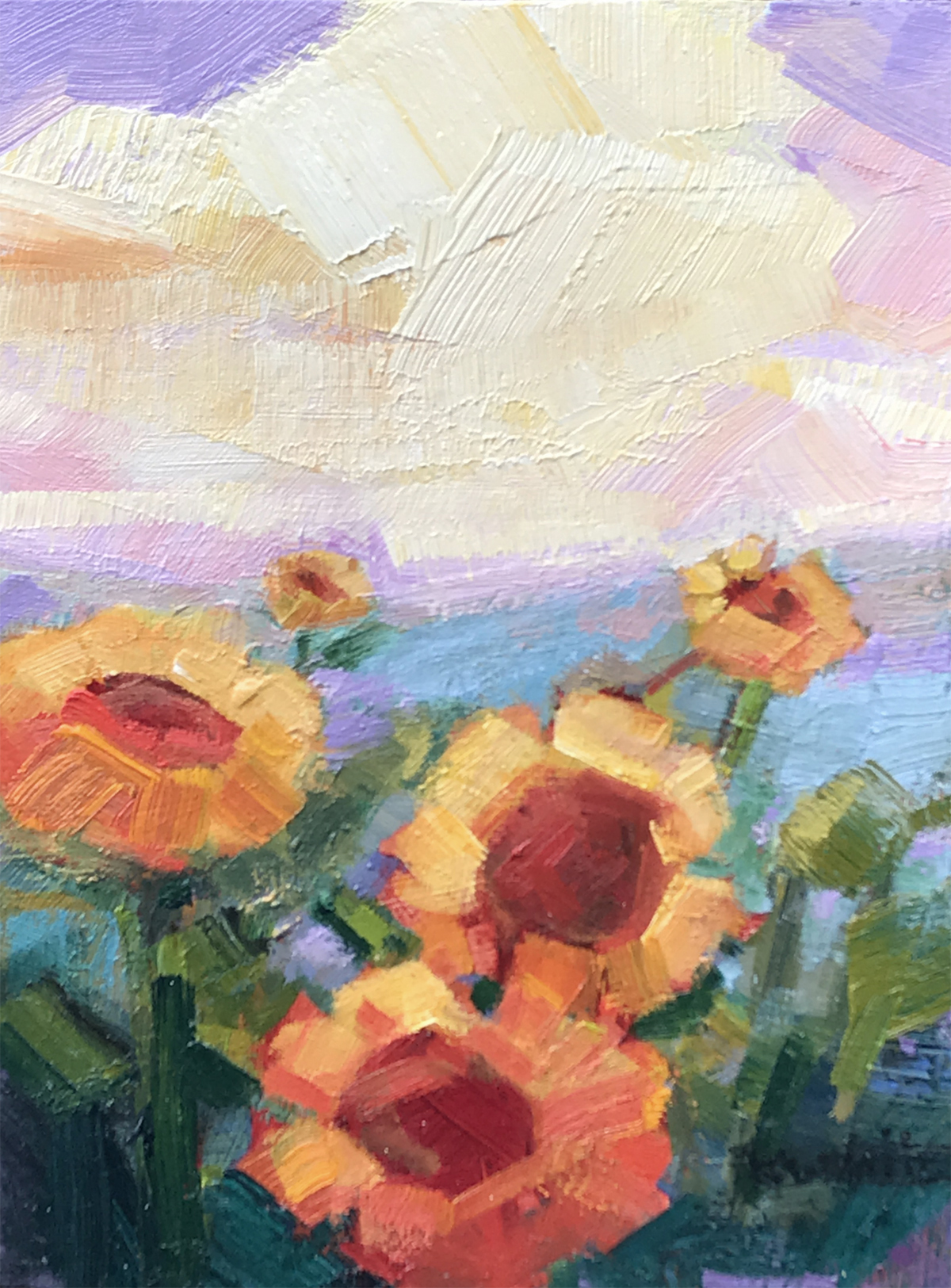Sunflowers and Lemon Cloud