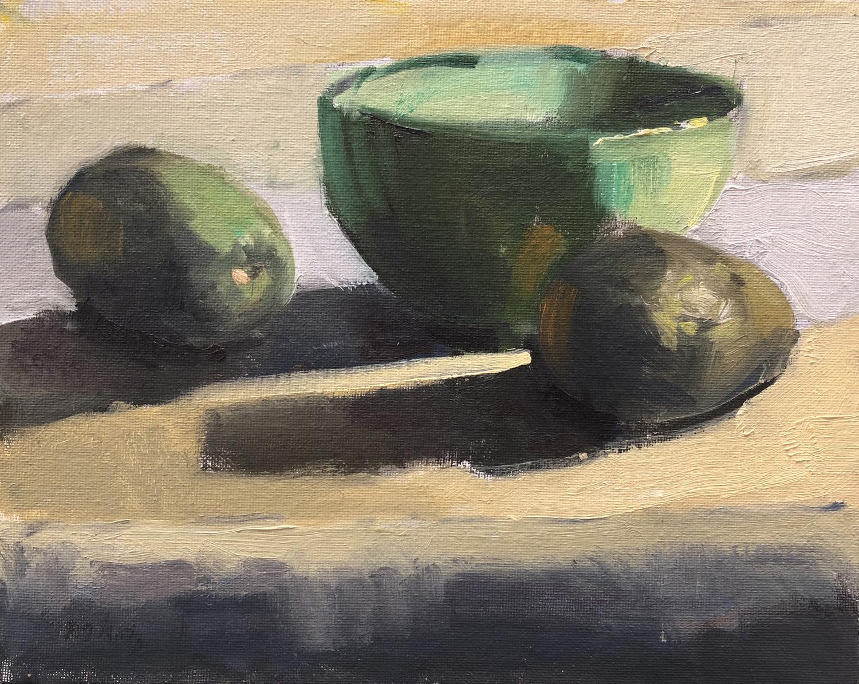 Avocados and Green Bowl