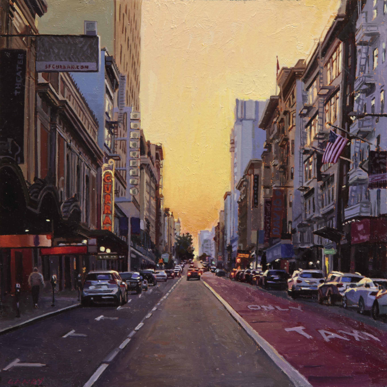 Summer Sunset on Geary Street