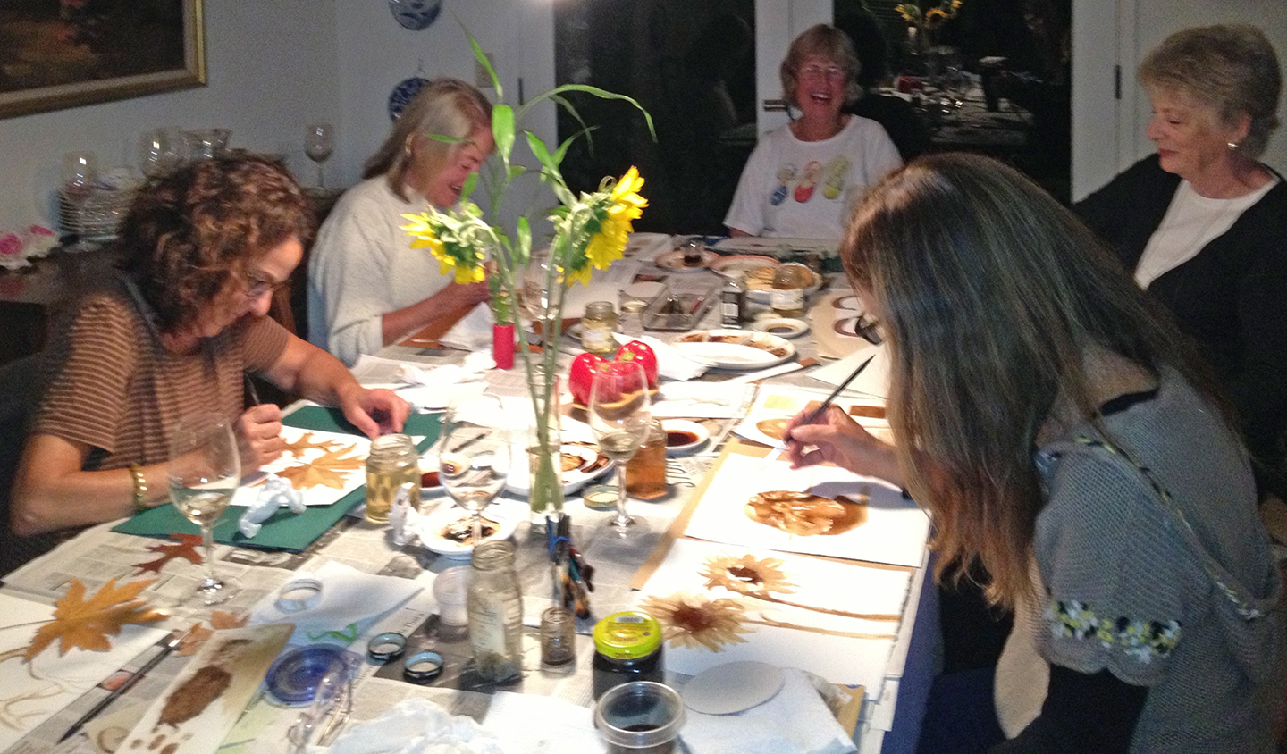 House Coffee  painting workshop in the home of  Eileen Ormiston  was fun and inspirational.