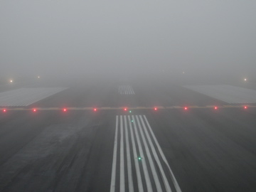 Holding short in fog prone YYT. Guess where the forward scatter RVR sensor was tested to ensure its reliability?