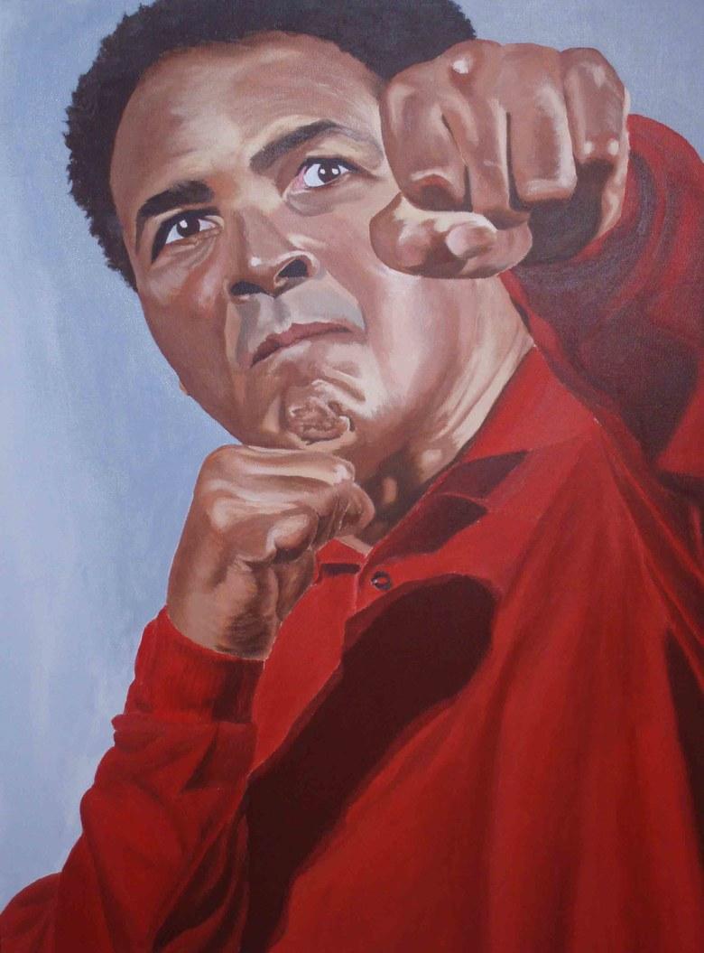 ''Still Fighting''.  Acrylic on canvas.  2x3'. 2006.