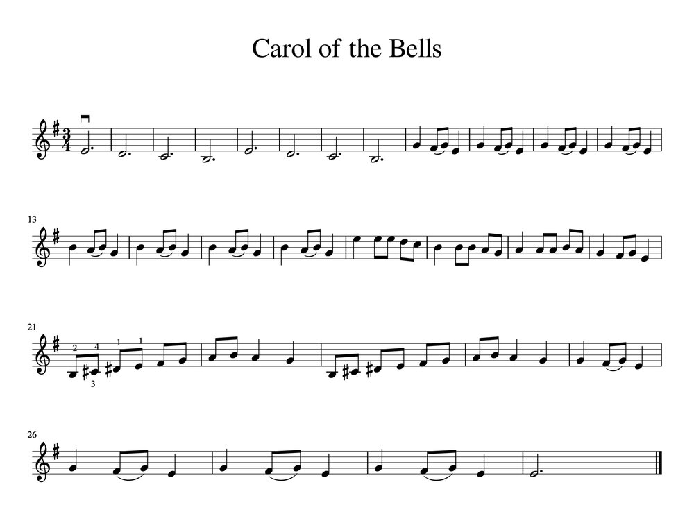 easy christmas songs for violin--free sheet music — meadowlark violin studio  meadowlark violin studio
