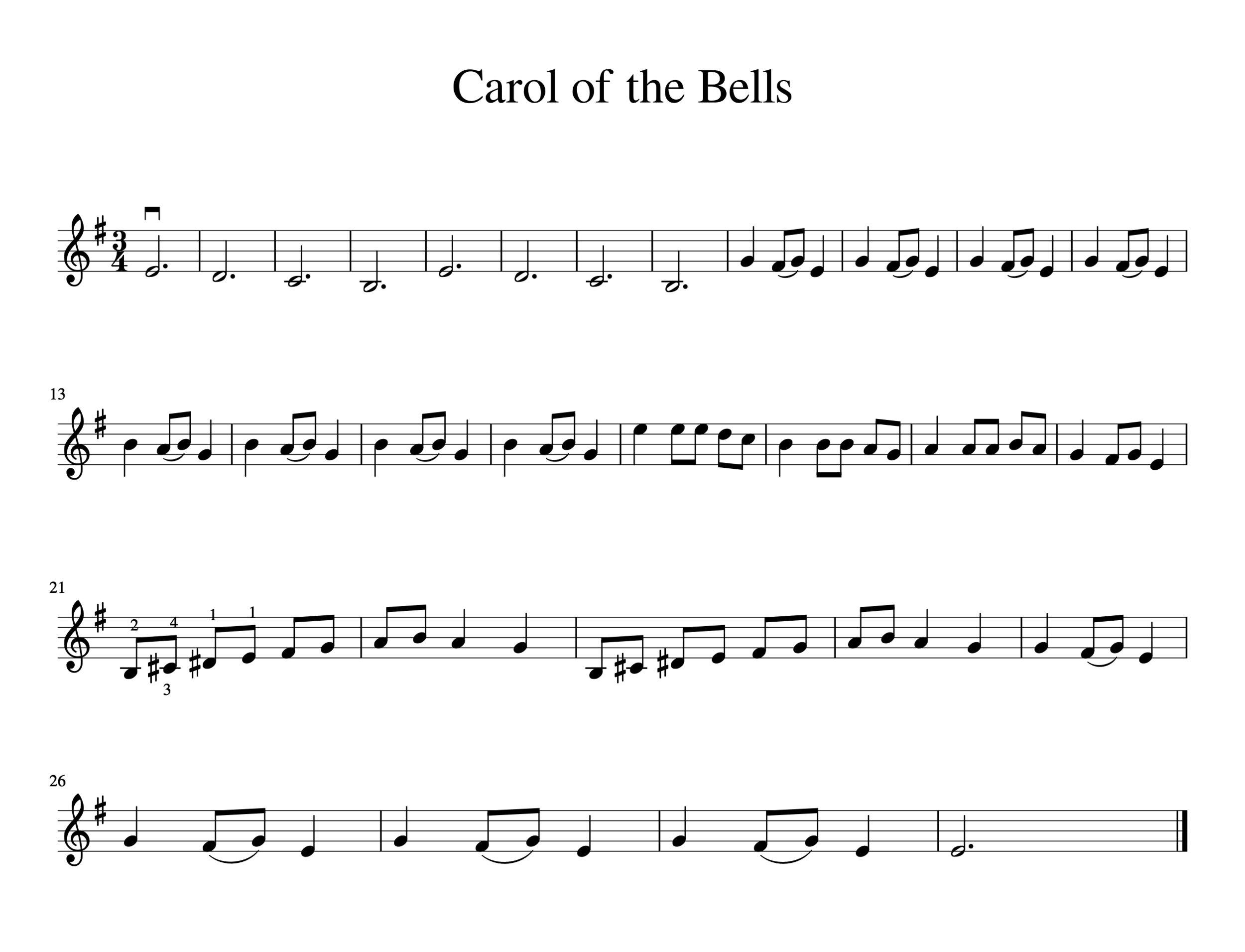 Easy Christmas Songs For Violin Free Sheet Music Meadowlark Violin Studio