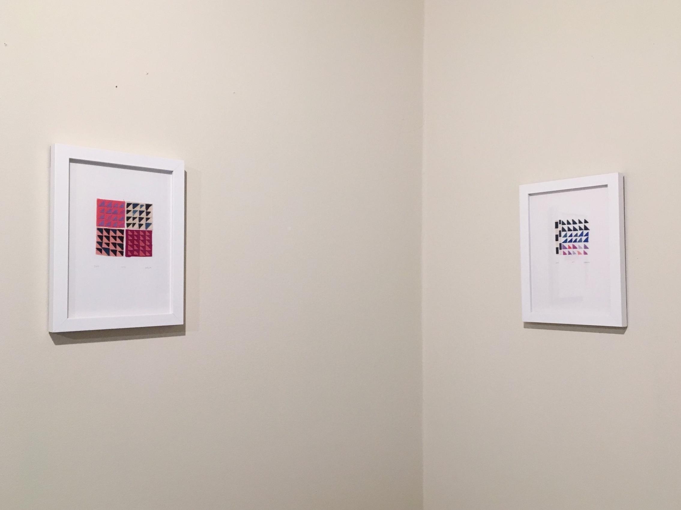 Framed works on paper