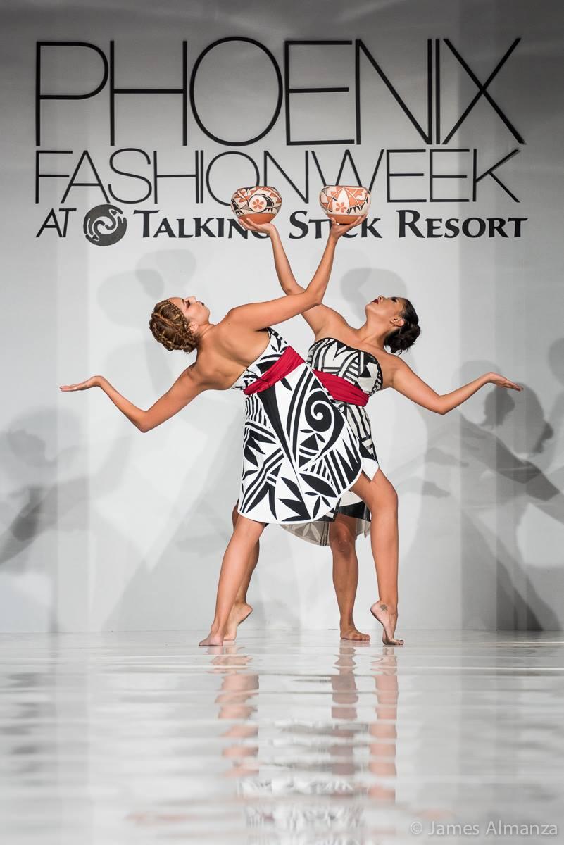 A beautiful dance demonstration from ACONAV clothing, the winner of Saturday's Emerging Designer Challenge.