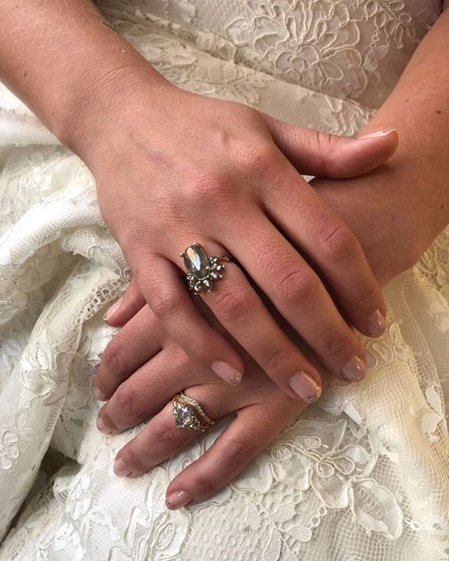 We love @digbyandiona rings so much it might be a slightly unhealthy obsession... Even more awesome is that they're pretty much our neighbors! We love when our brides hit up all the rad Brooklyn designers while they're out our way Photo by @wildescoutphoto.co