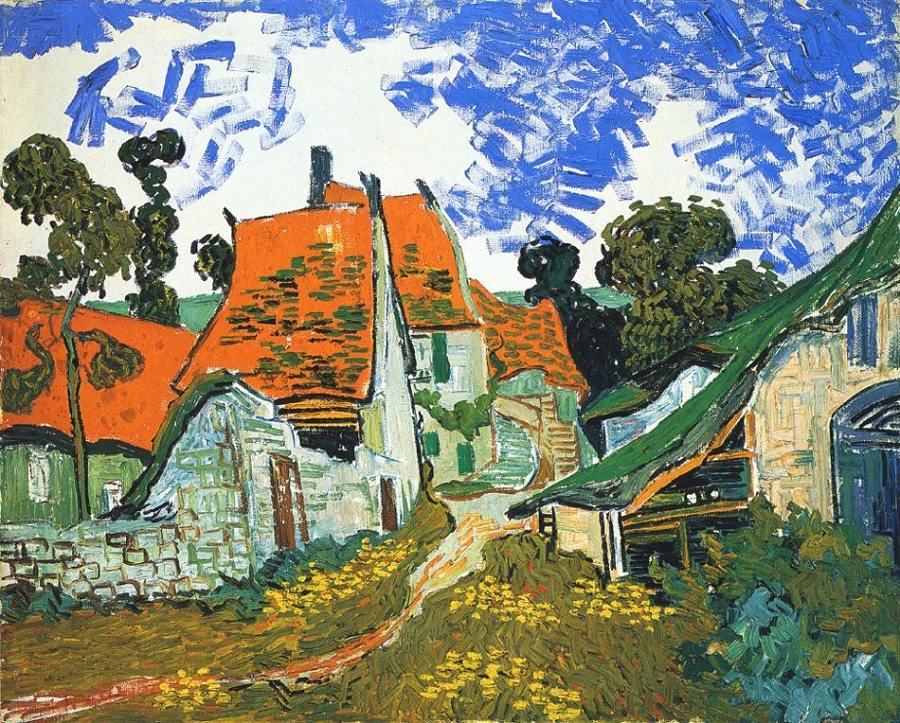 The inspiration for the color stripe on our Body Conjure labels comes from the gorgeous painting  Village Street   in Auvers  by Vincent van Gogh.