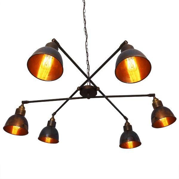 We're a bit smitten with this 6 light contemporary chandelier, which comes in polished or antique brass & satin or antique silver. It retails for £392.