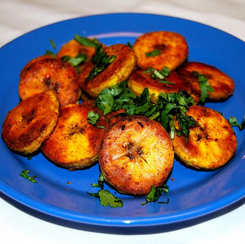 Roasted (savoury) plantain chips