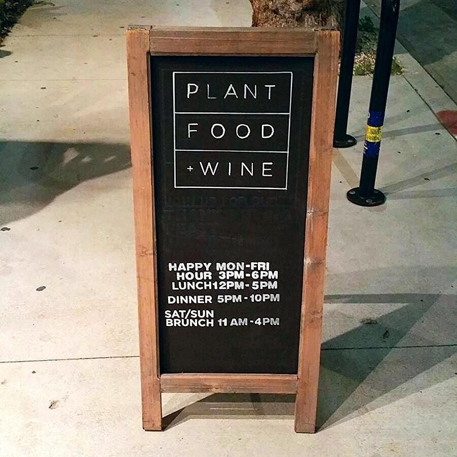 Plant Food and Wine Vegan Restaurant LA