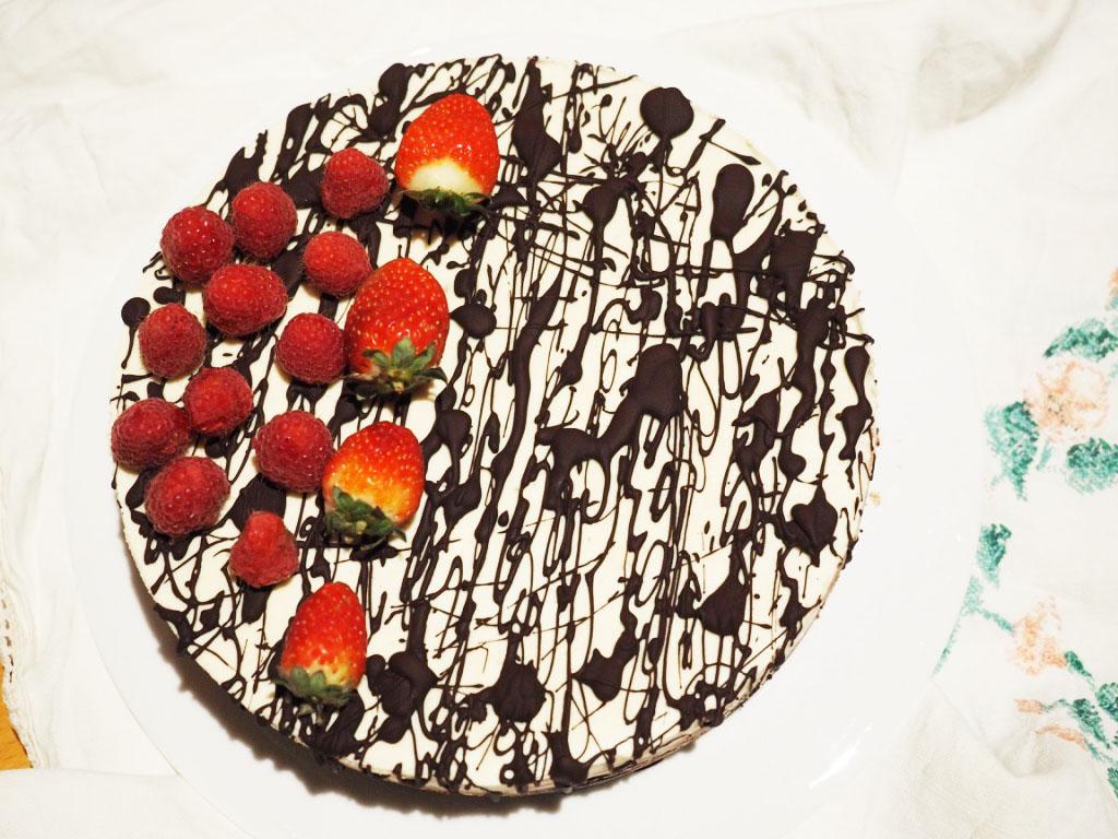 vegan jaffa cheesecake tart