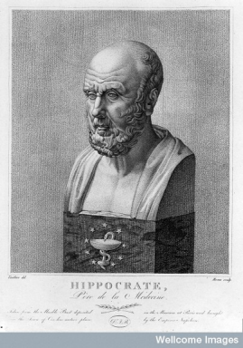 "Hippocrates (460 - 370 BCE) is credited with the famous line ""Let food by thy medicine, and medicine by thy food"". He believed that diet was an integral element to all healthy organisms."