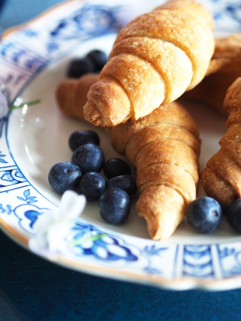 """""""Buttery"""" with not a trace of butter in them - flakey and yeasty - these dairy free croissants surpassed my wildest expectations."""