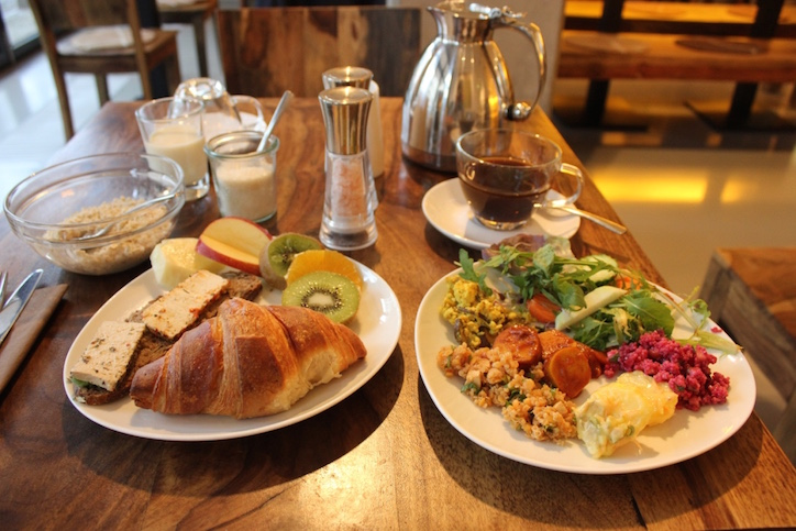 A feast from the epic vegan breakfast spread at the Almodovar eco hotel Berlin... yes there were vegan croissants!