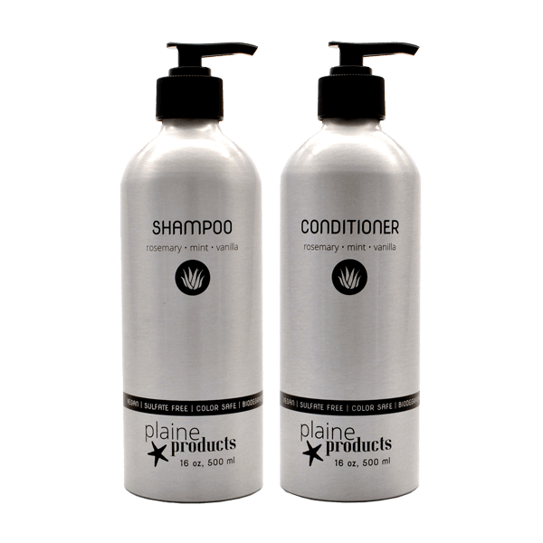 shampoo & conditioner in aluminium bottles that are returned for refilling? - We think this is pretty close to fabulous!