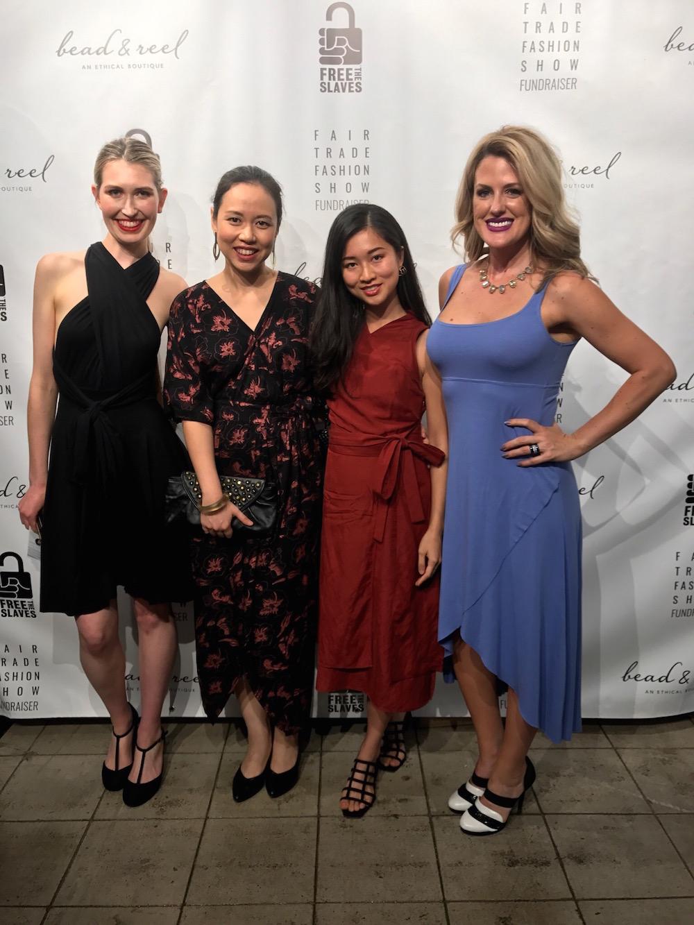 With Agnes Muljadi (vegan ballerina 'Artsy Agnes'), Kamea Chayne (of Konscious Whispers) & Sarah Bluff (of Veggie Bluff).