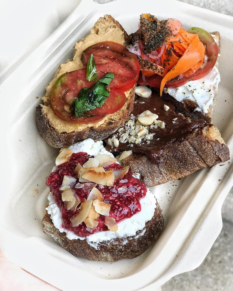 Healthy vegan food at Nourish Cafe San Francisco