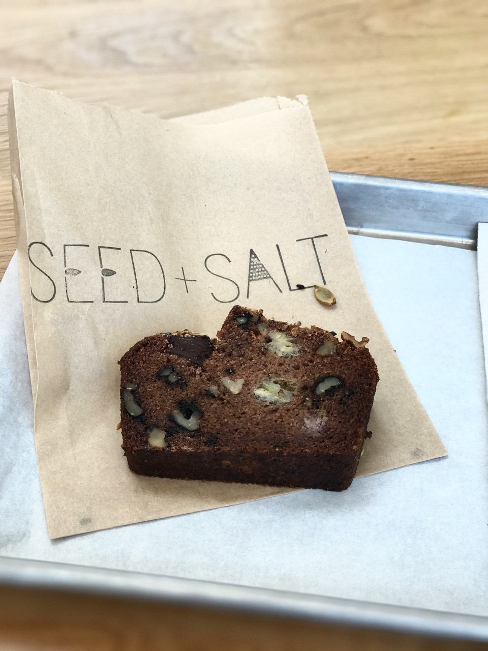 Vegan chocolate, walnut & banana bread from Seed + Salt, San Francisco.