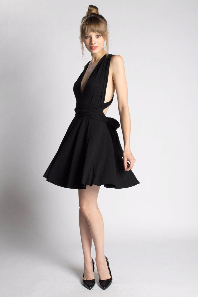 Eco-friendly Infinity Dress by Orgotton - made in America from organic cotton and bamboo sustainable materials.
