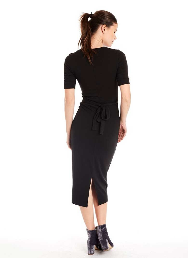Ethically manufactured dress by Groceries Apparel, made from eco organic cotton in LA, USA.