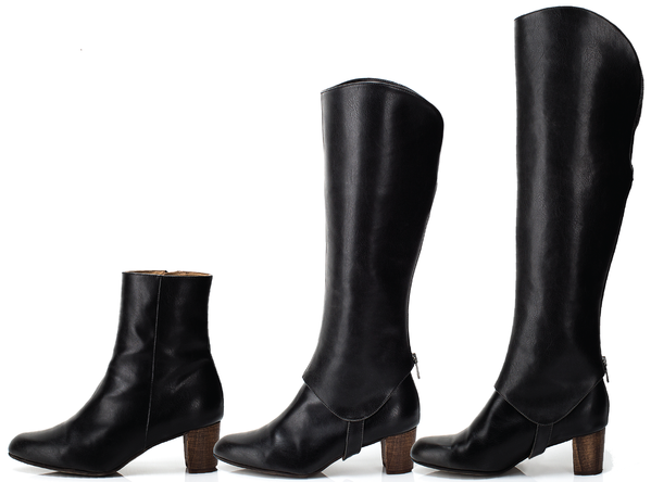 Best vegan ankle boots brands advice, 3-In-1 Editor Boots by Bhava Studio New York.