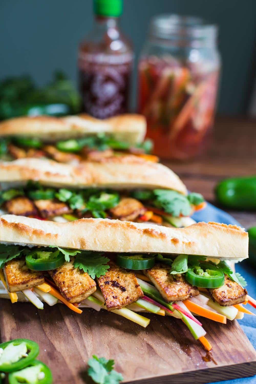 4: tofu banh mi baguette - the classic Vietnamese roll gets a vegan makeover
