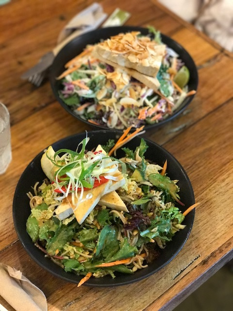 Healthy dairy-free vegetarian food at Lotus Leaf Asian Salads in Port Douglas.