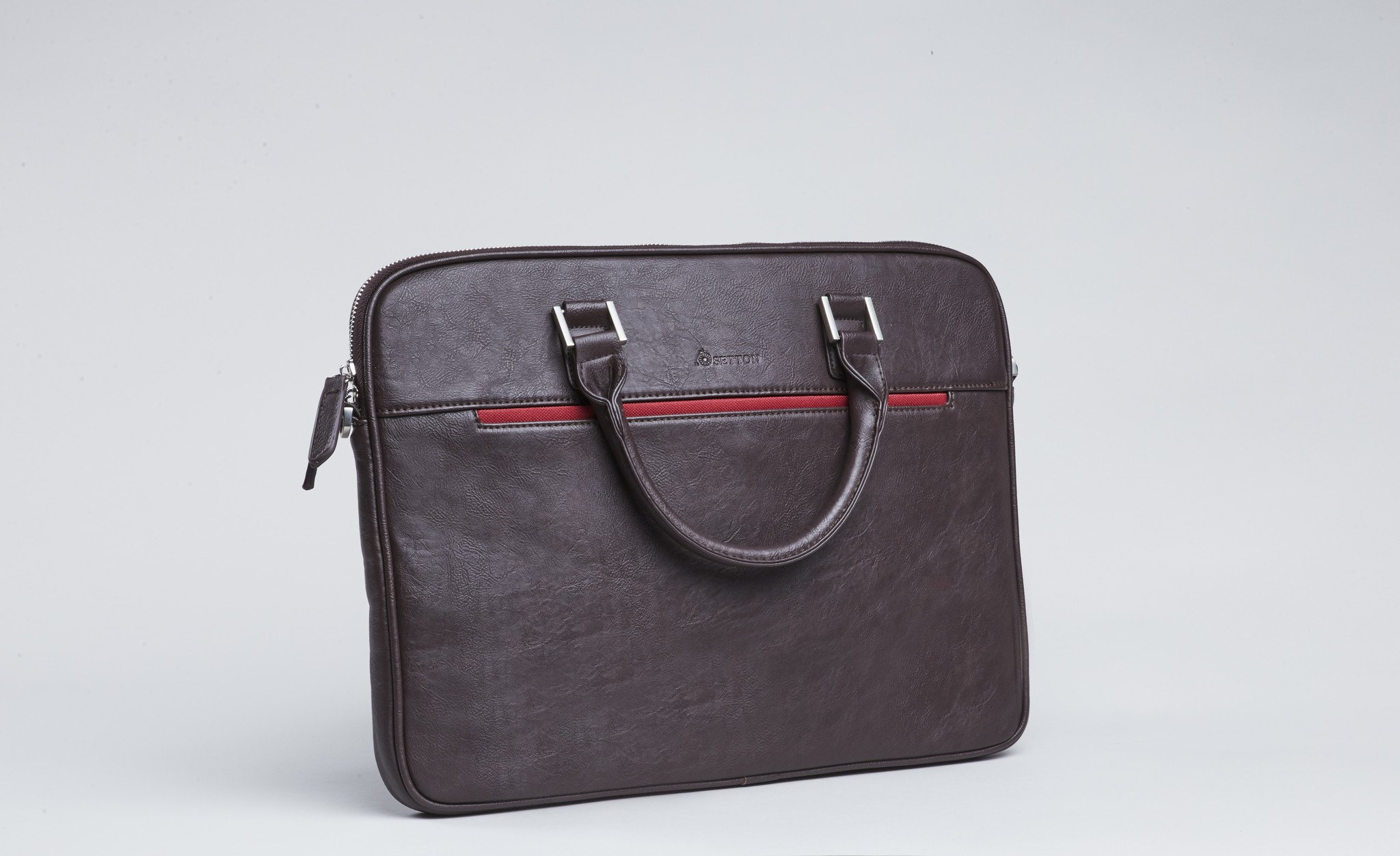 No #1 - Pintta brown slim briefcase