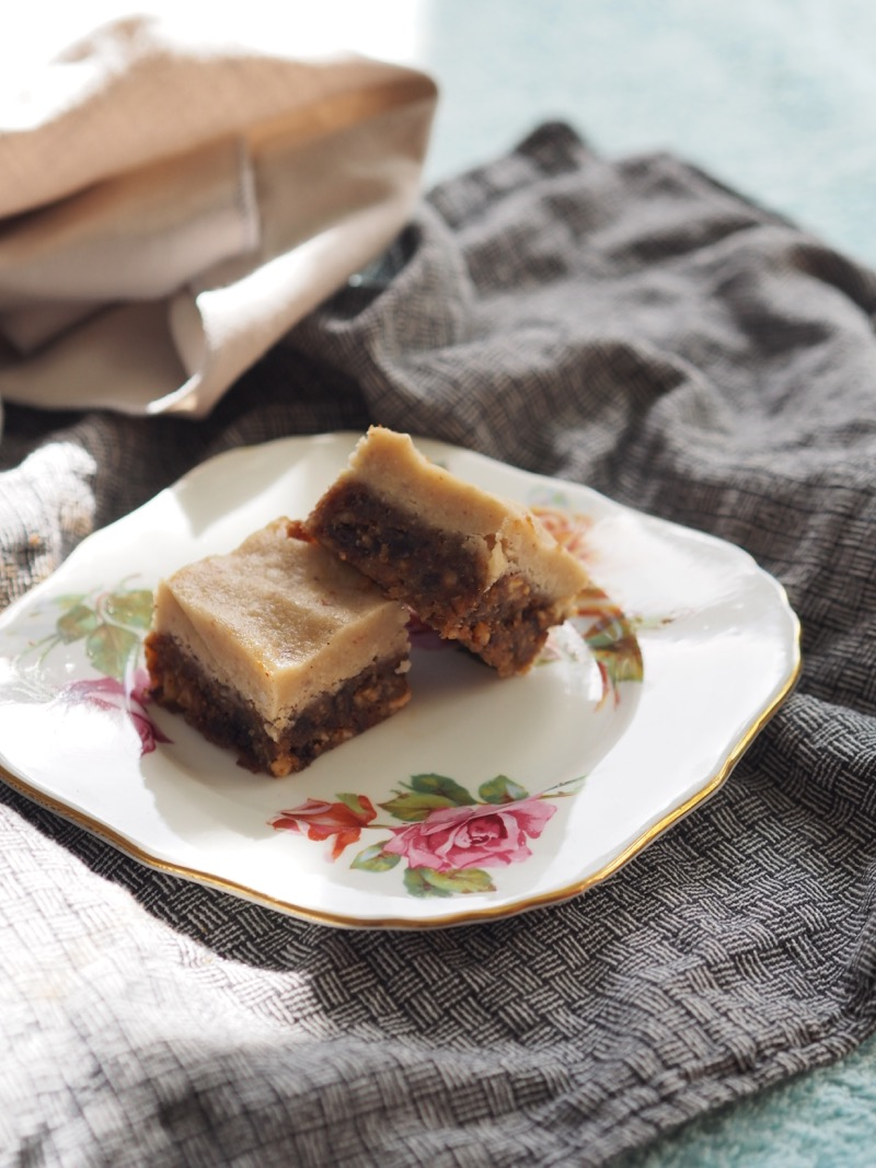 Raw vegan hazelnut and cacao slice