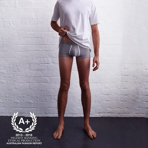 Etiko - Fair trade, organic cotton underwear. Also make a range of t-shirts & hoodies, as well as canvas sneakers and natural rubber thongs.