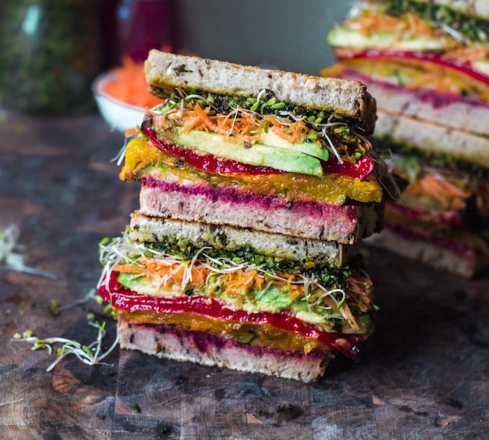 Rainbow Roast Vegetable Sandwich -