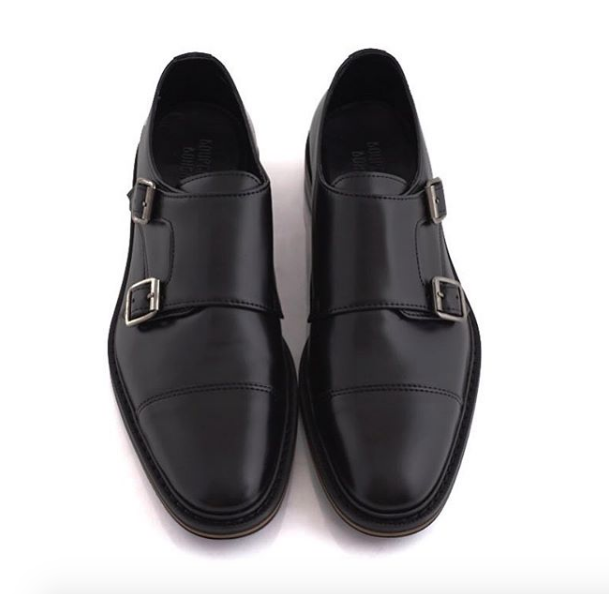 Men's vegan & ethical dress shoes brands - Bourgeois Boheme UK double monk oxfords.